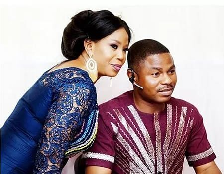 Ayefele and wife, Tope
