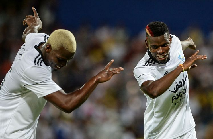 Mathias and Paul Pogba dabbing