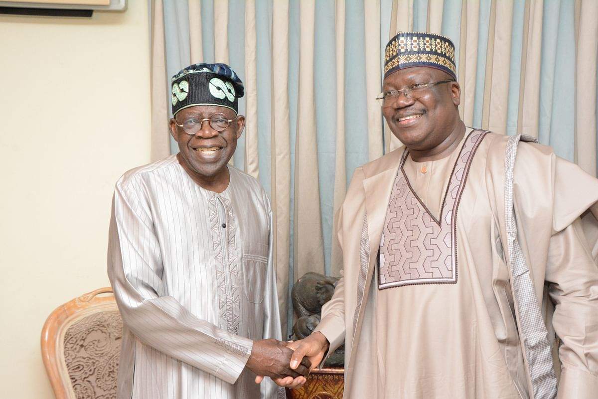 Tinubu and Senator Ahmed Lawan