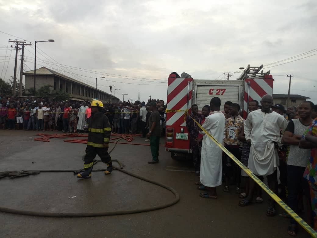 Many Feared Dead As Fire Guts Ijegun Area Of Lagos