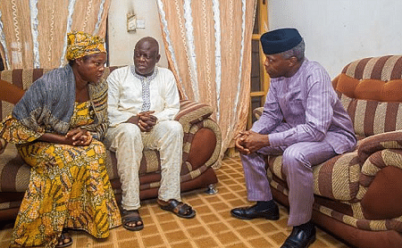 Yemi Osinbajo and family of slain youth corps member