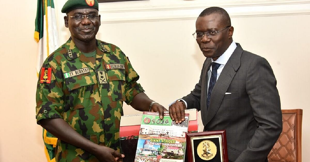 Army Chief, Buratai, Pays Courtesy Visit To Sanwo-Olu In Lagos
