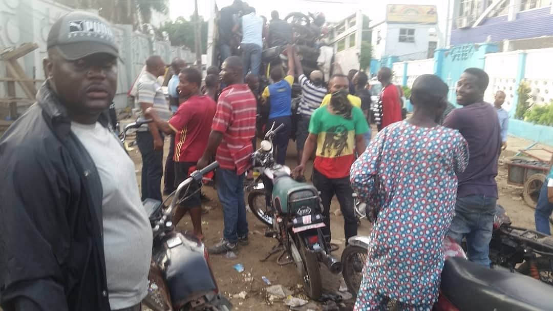 Lagos State Task Force Impound 95 motorcycles