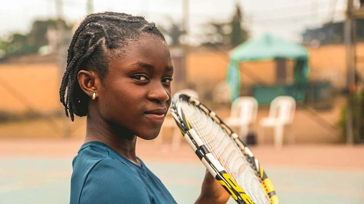 Young tennis star, Marylove Edwards