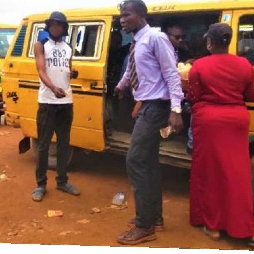 Corporate Bus Conductor Spotted In Lagos