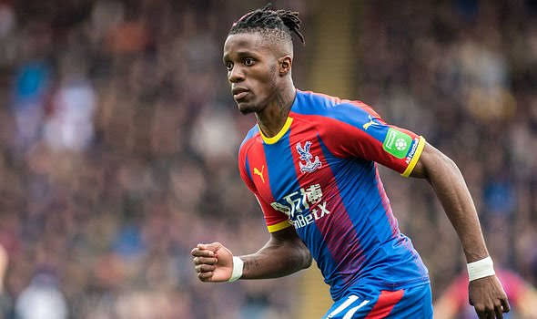 Zaha playing for Crystal Palace