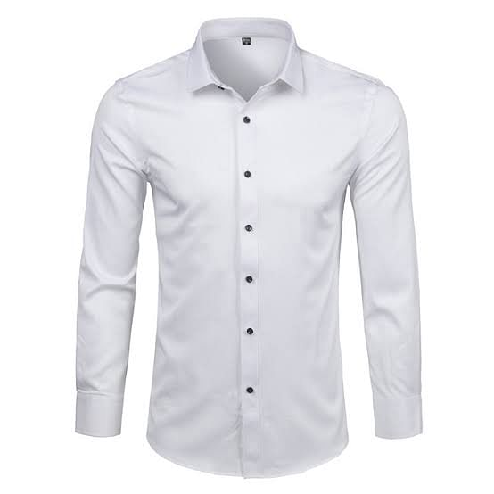 A white buttoned shirt