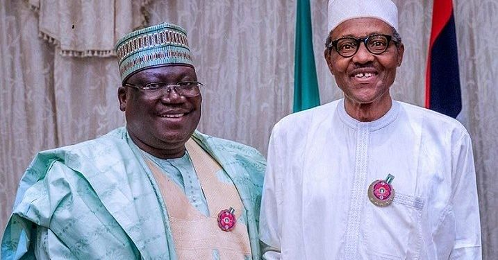 President of the Senate, Ahmed Ibrahim Lawan, and President Muhammadu Buhari