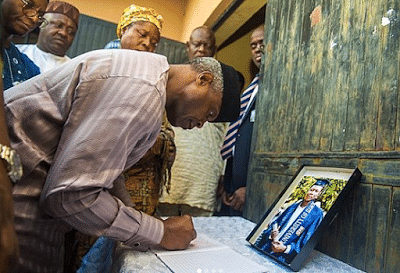 Osinbajo, El-Rufai Visit Family Of Slain Channels Reporter (Photos)