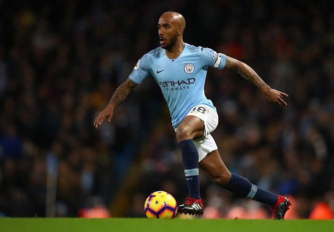 Delph in action for man city