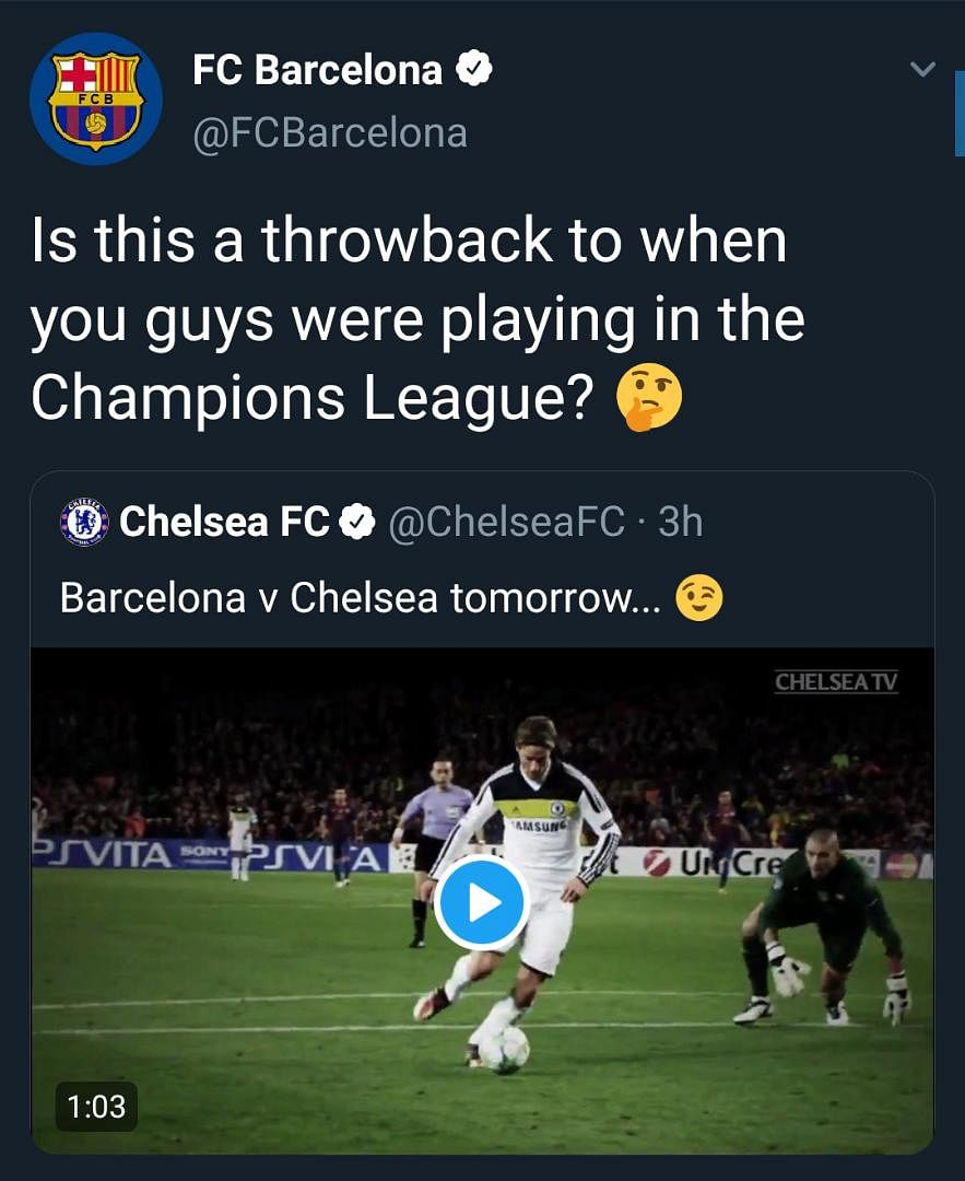 Chelsea And Barcelona Engage In Twitter Banter Ahead Of Pre-season Game
