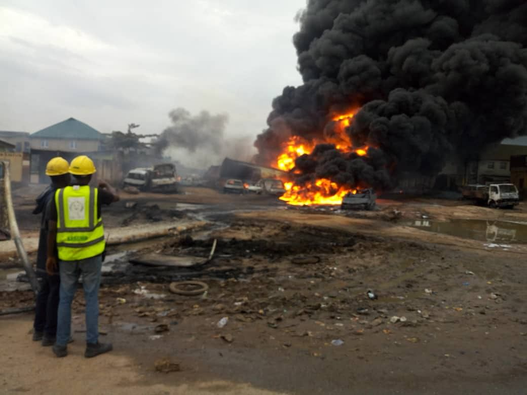 Fire Hits Ijegun, Lagos community