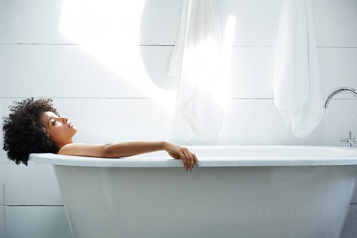 A hot bath can be relaxing and therapeutic