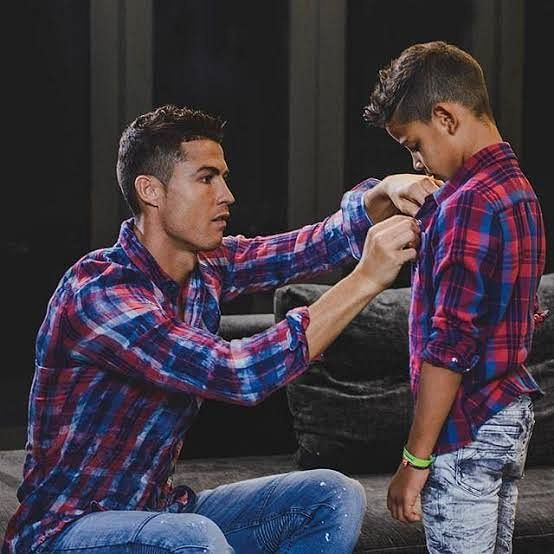 Cristiano Ronaldo Advises His Son On How To Become A Top Footballer