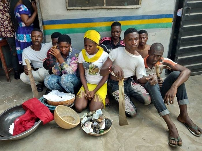 2 Female, 6 Male Arrested During Initiation Into 'One Million Boys' Cult In Lagos