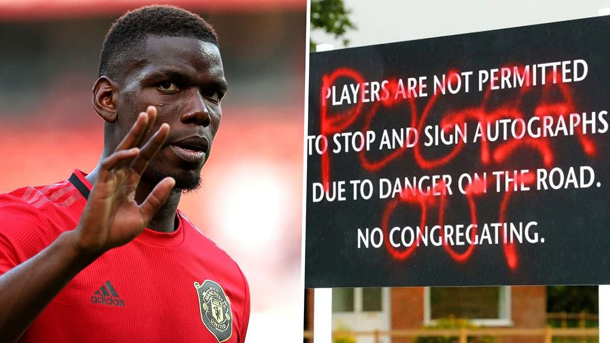 'Pogba Out!' - Fans Spray-Paint Sign Outside Training Ground