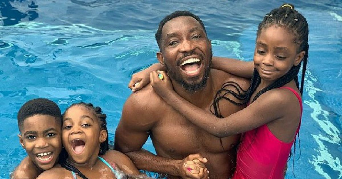 Timi Dakolo Shares Photos Of Himself And Adorable Kids Swimming