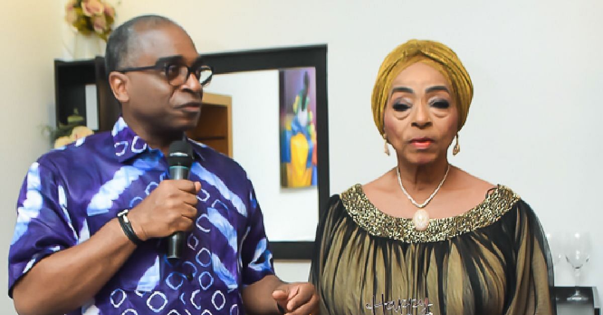 Princess Abah Folawiyo with Son, Segun Awolowo jr