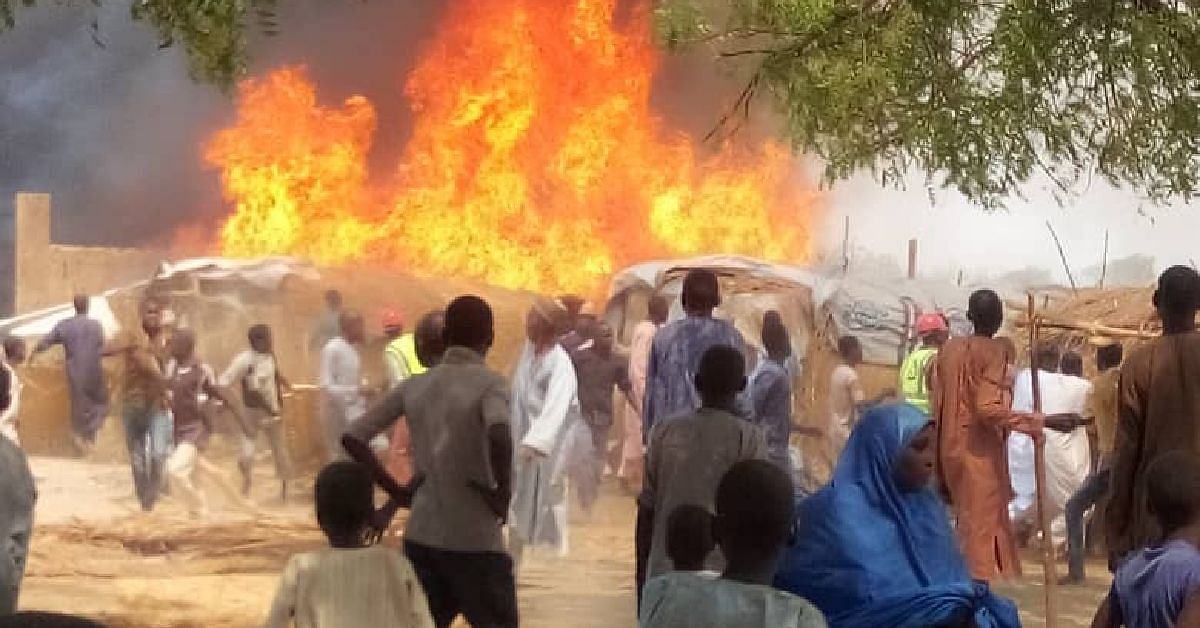 Fire Razes 11 Shops In Yobe Market