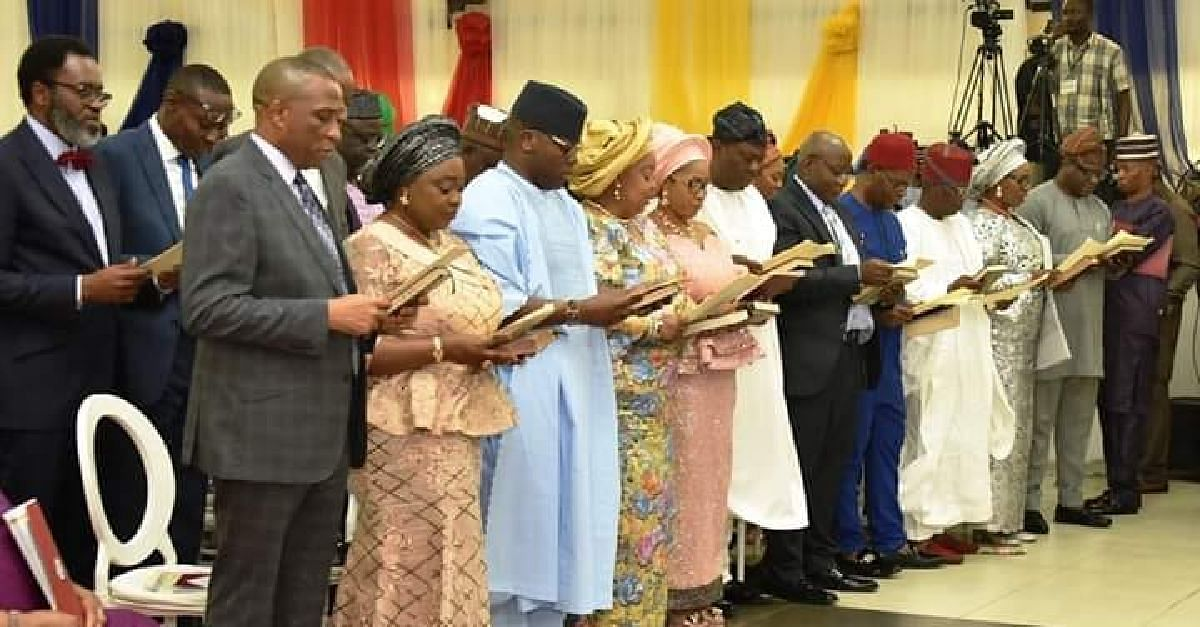 Commissioners And Special Advisers Sworn  In  By Governor Sanwo-Olu (Photos)