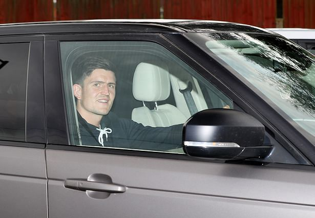Photos: Harry Maguire Drives Out Of Carrington After Completing Man Utd Medical