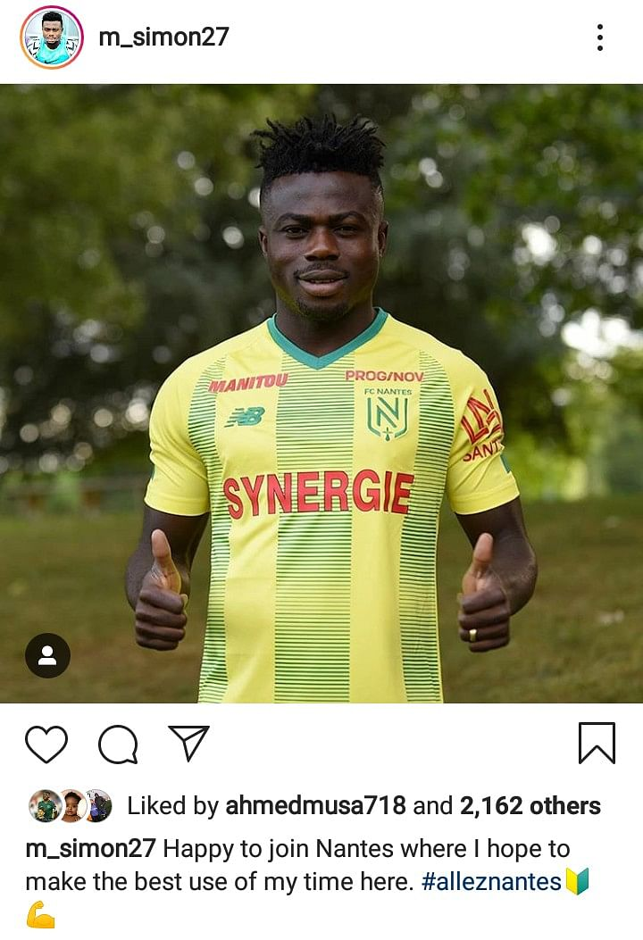 Moses Simon Joins French Club Nantes On Loan From Levante