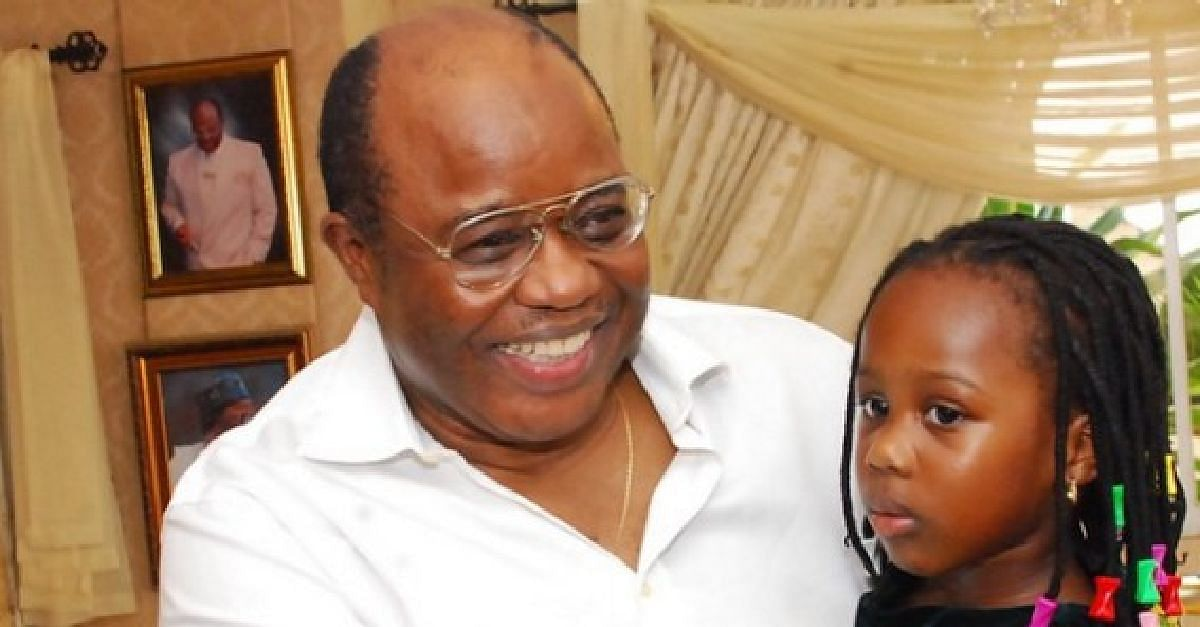 Harry Akande with granddaughter
