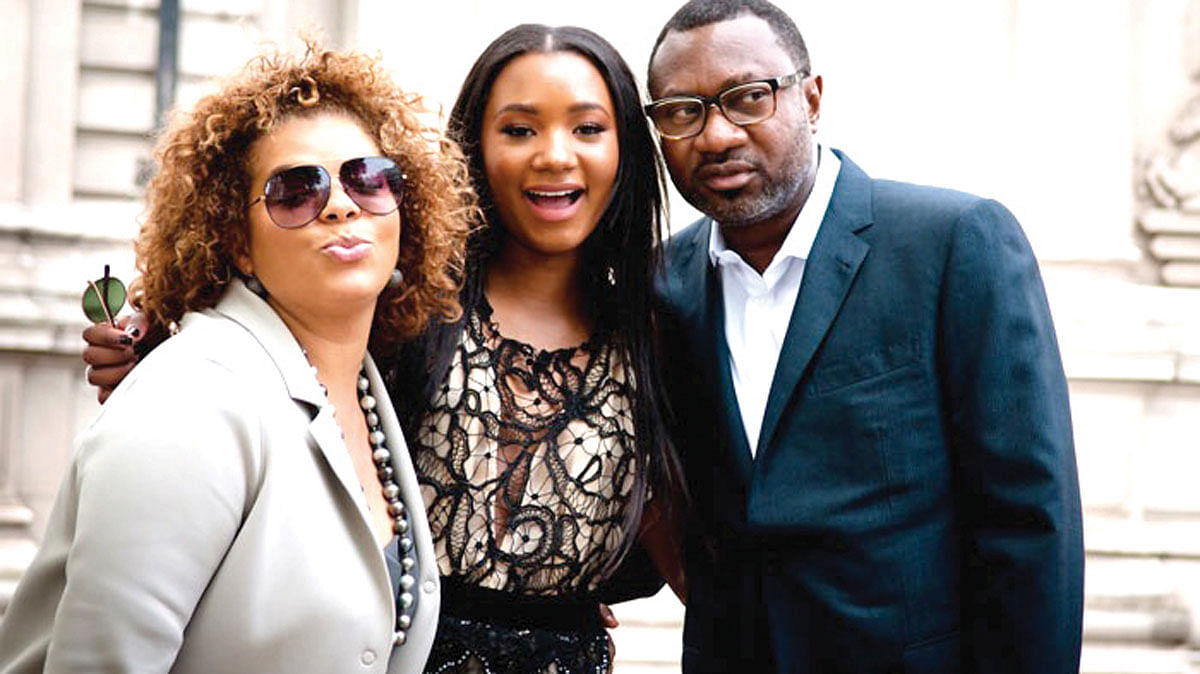 Otedola, daughter and wife