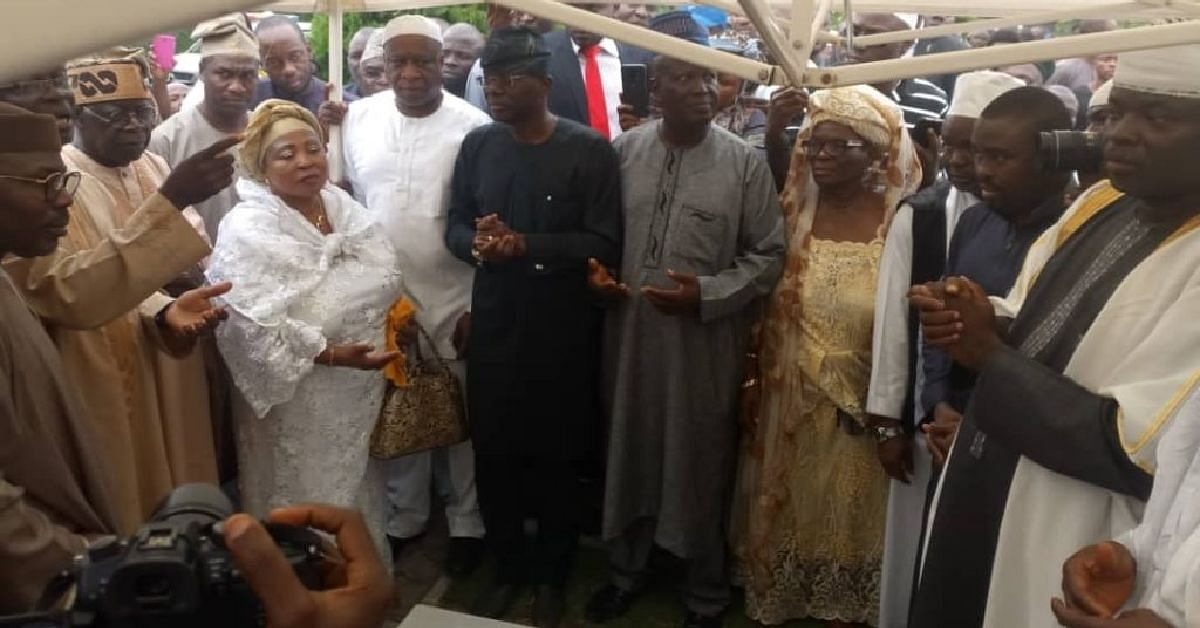 Tinubu Makes Surprise Appearance At The Burial Of Banire's Mom