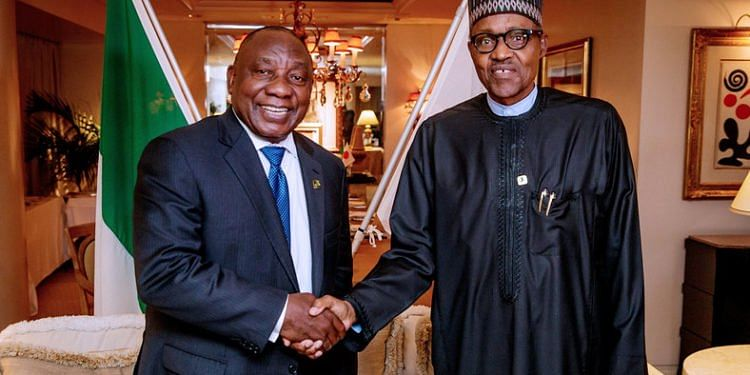 Presidents Ramaphosa and Buhari
