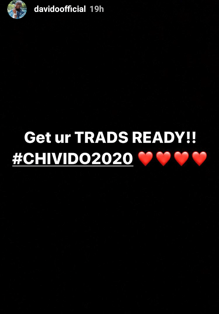 #CHIVIDO2020: Davido Reveals The Identity Of His Wedding Planner