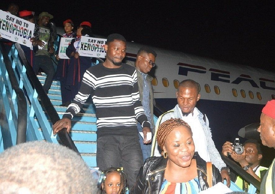 Nigerians arriving from South Africa