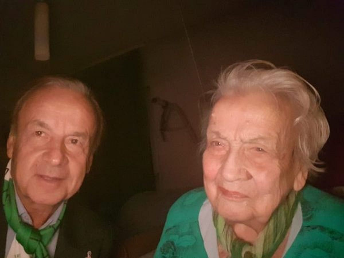 Rohr and his late mum