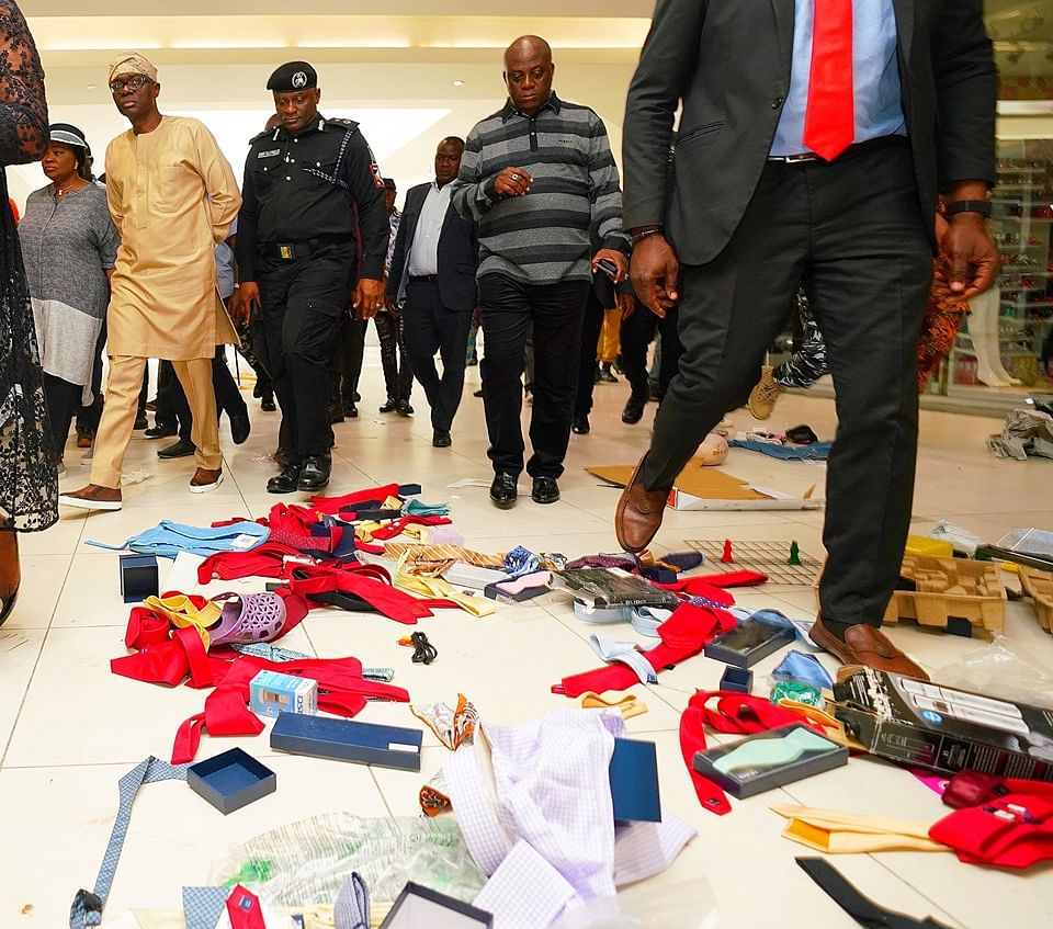 Xenophobia: Sanwo-Olu Visits Mall Looted By Nigerians