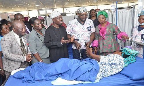 Sanwo-Olu at Ijede General Hospital,Ikorodu
