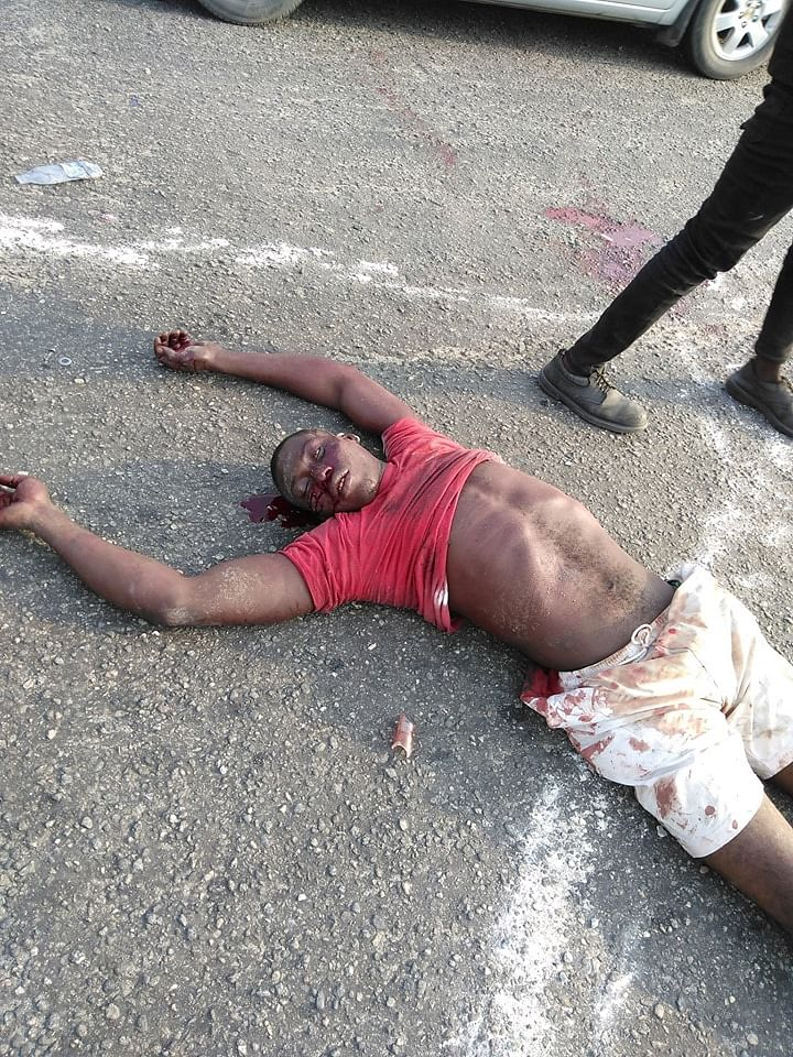 Nigeria Police Shot this man