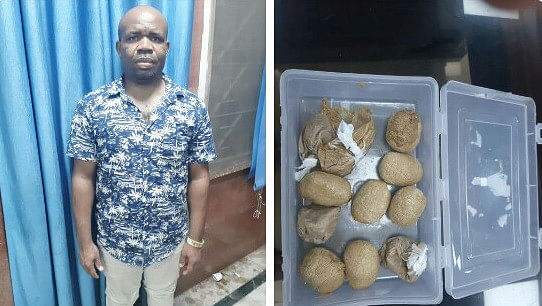 Photos: Nigerian Man Nabbed With 600 Grams Of Heroin In India