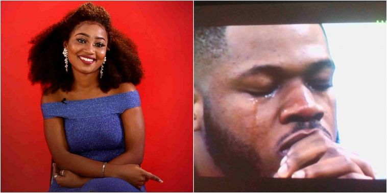 BBNaija Season 4: Frodd Sheds Tears Over Esther's Eviction (Video)