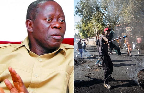 Oshiomhole Calls On FG To Take Over South African-owned Businesses