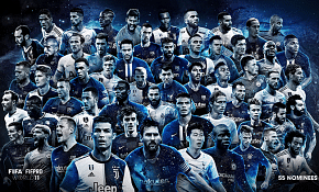 2019 FIFPRO Men's World 11: Fifty-five Players Nominated