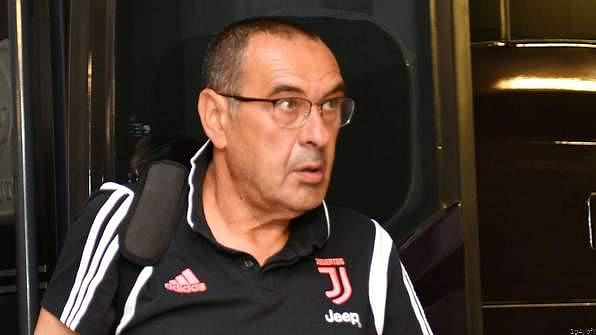 Maurizio Sarri Returns To Take Juventus Training