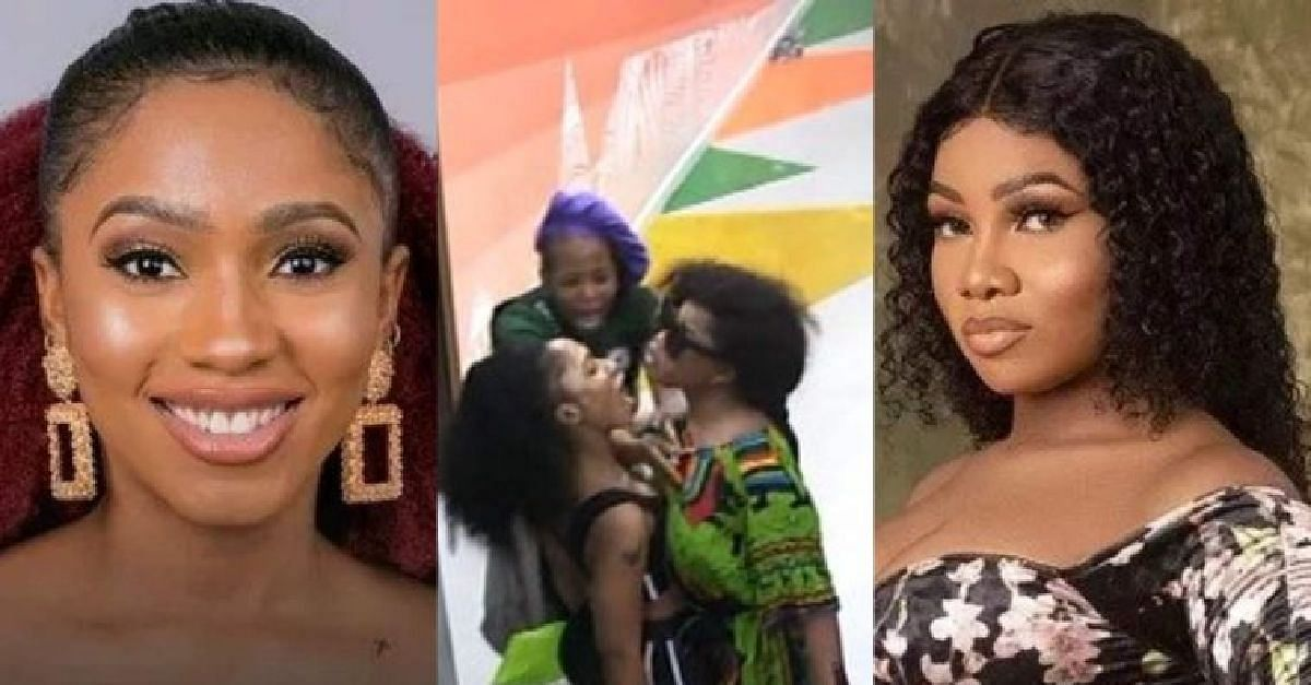 Nigerians React To The Fight Between Mercy And Tacha, Ask For Disqualification