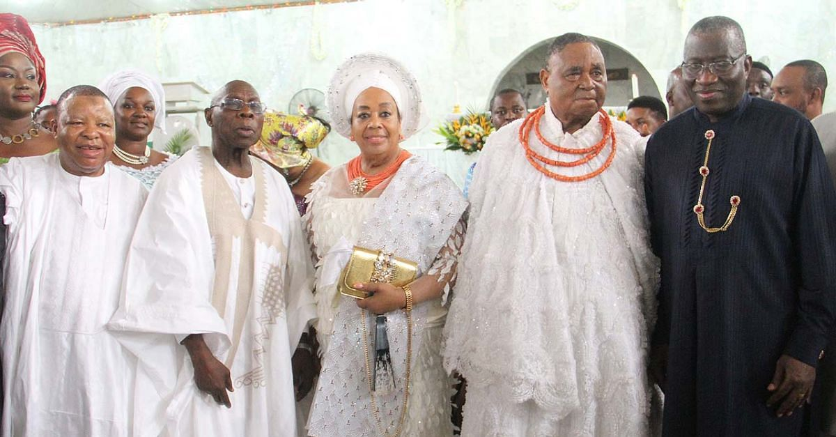 Obasanjo, Others Grace Igbinedion's Thanksgiving Service In Edo