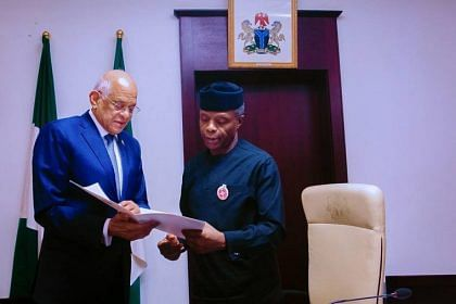 Osinbajo Calls For Joint Action With Egypt Against Terrorism