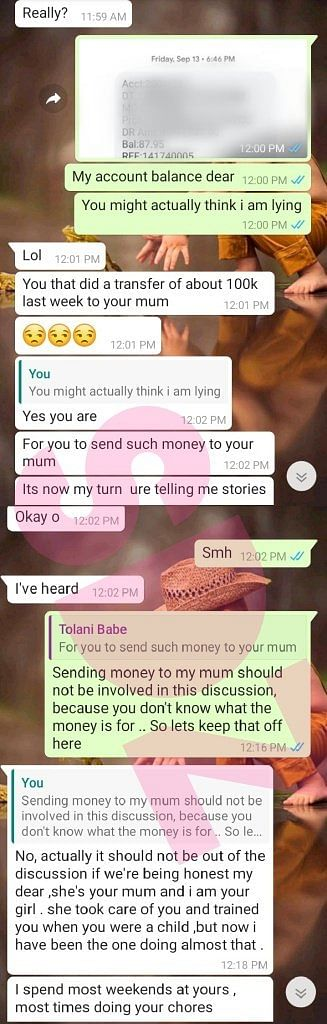 Girlfriend Queries Man For Not Putting Her On The Same Level With His Mum
