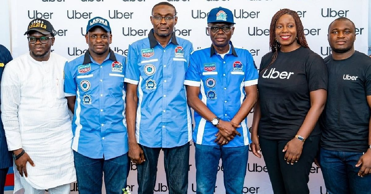 Lagos State Governor and Uber representatives