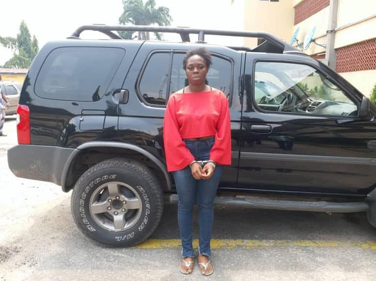 Lady Who Escaped With Lover's SUV In Ikeja After They Had Sex Arrested