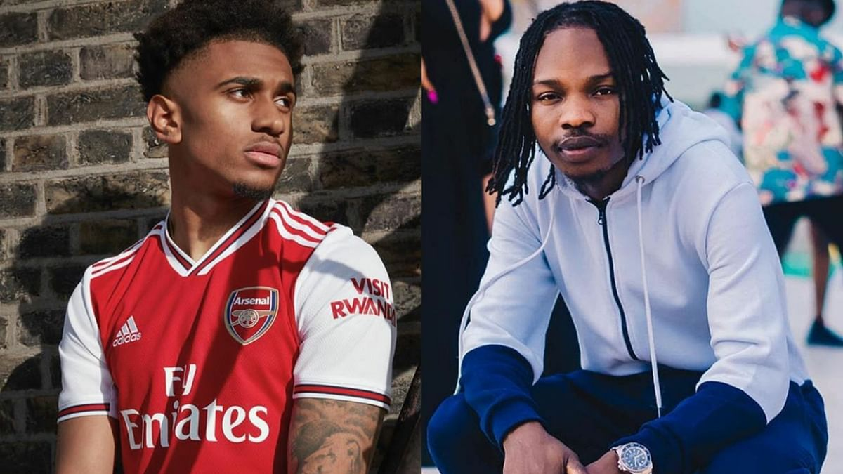 Arsenal Star, Riess Nelson Gives Naira Marley A Shout Out On Instagram