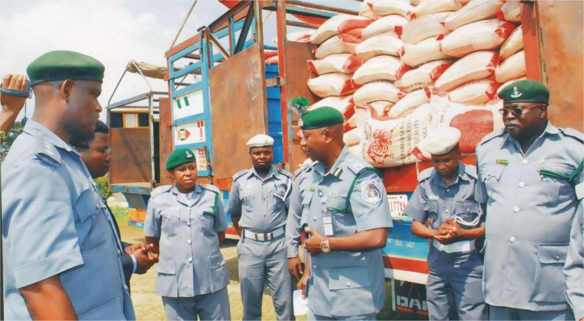 Rice  Smuggled In Gas Cylinders Intercepted by Custom