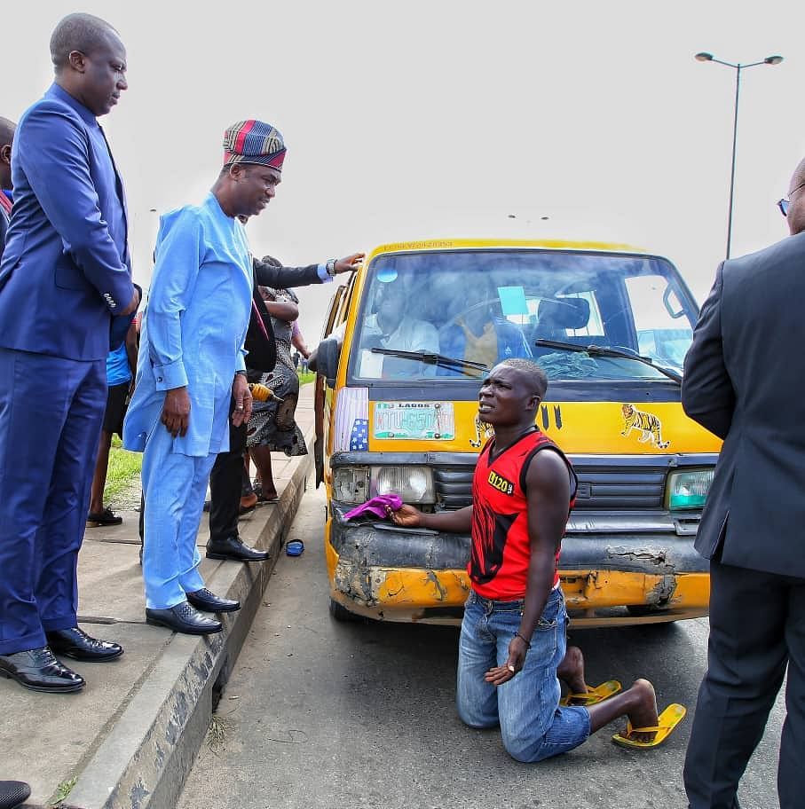 Lagos State Deputy Governor Arrests Motorists For Driving Against Traffic